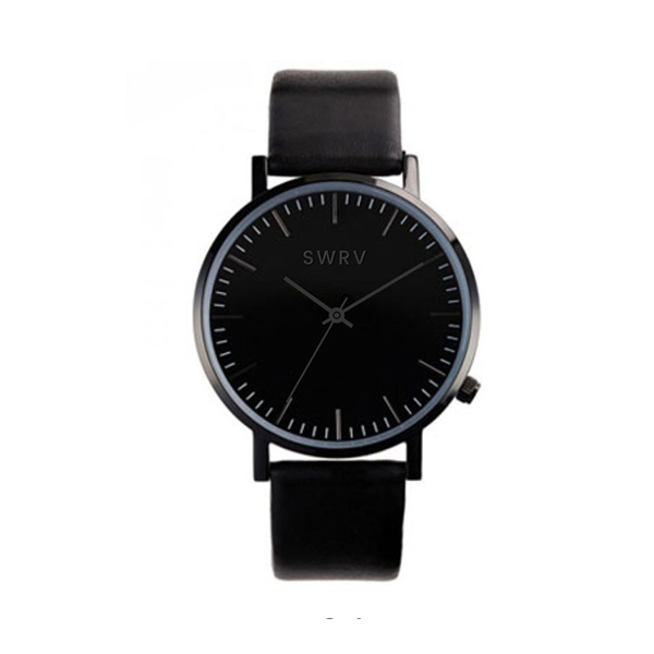 watches dial thin buy big unisex ultra and white dp black case stainless leather steel with face burei